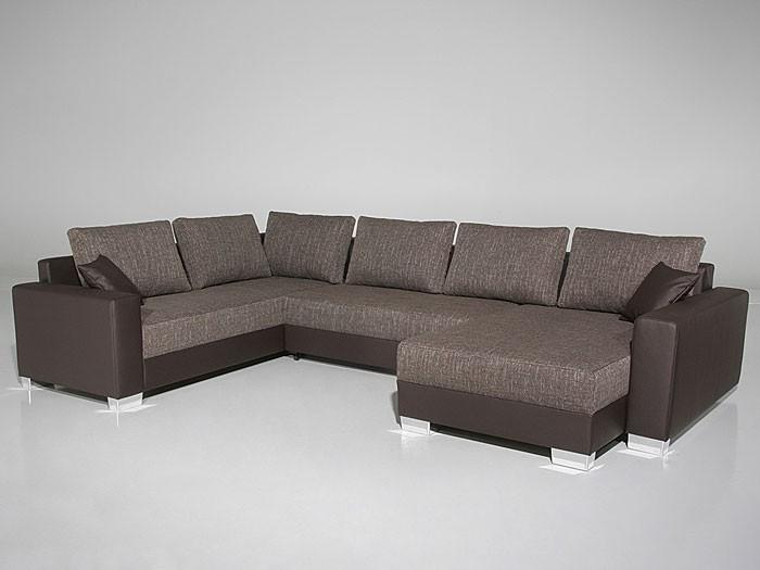 Polsterecke Amy 320x220 160cm Braun Couch Sofa Ecksofa